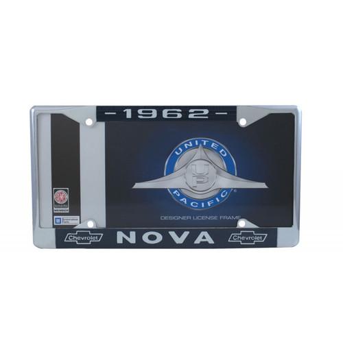 62 1962 Chevy II Chevrolet NOVA Chrome License Plate Frame