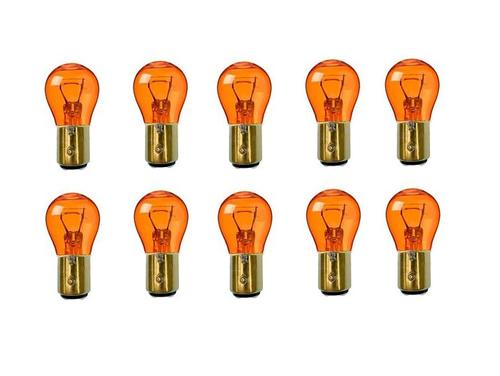 1157 Amber Stock Tail Light Rear Brake Stop Turn Signal Lamps Bulbs Box Of 10