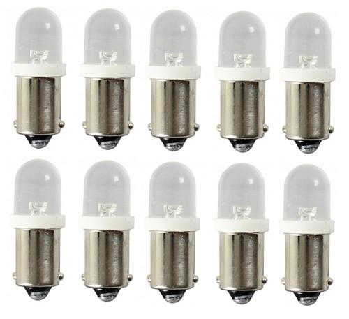 (10) 55-65 Chevy Led Dash Instrument Panel Cluster Gauges Glove Box Light Bulbs