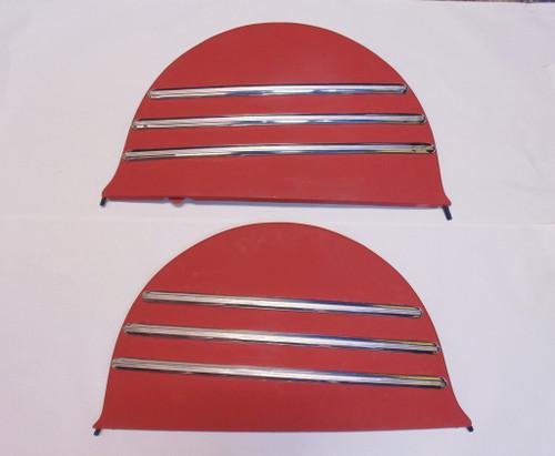 41 42 46 47 48 Chevrolet Fleetline Metal Fender Skirts & Stainless Moldings Pair