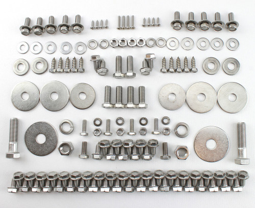 55 56 57 58 59 Chevy TRUCK Front End Hood Fender Sheetmetal STAINLESS Bolt Kit