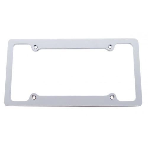 Solid Billet Brushed Aluminum 4-hole License Plate Frame