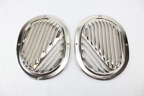 58 59 60 61 62 63 Chevy Impala Bel Air Biscayne Kick Panel Fresh Air Vent Grills Grilles