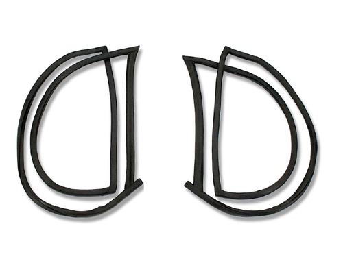 55 56 57 Chevy Nomad & Safari Quarter Curved Window Glass Rubber Channel Seals
