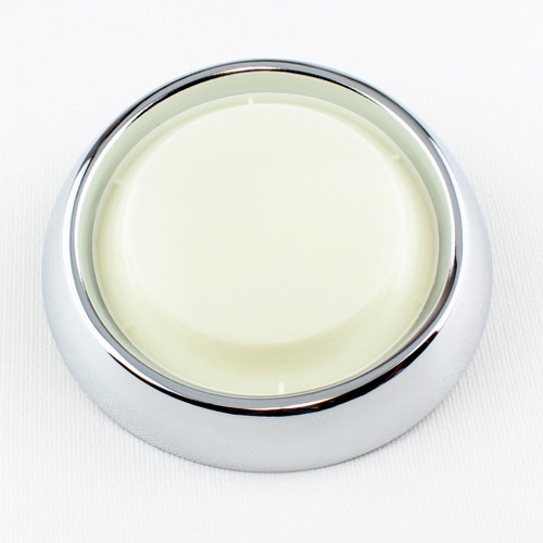 55 56 57 58 59 - 67 Chevy Interior Dome Light Lens Housing Chrome Bezel Assembly