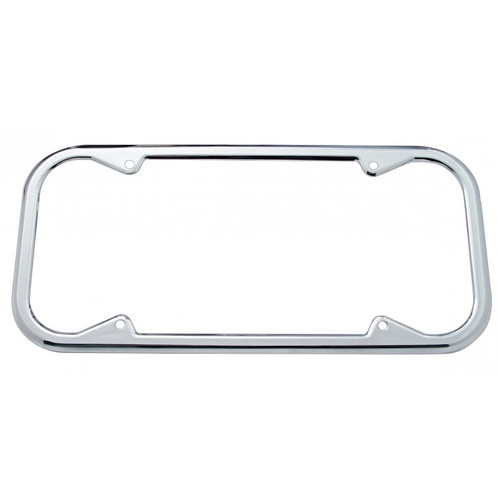 1940-1955 California Chrome Metal License Plate Frame With Round Corners