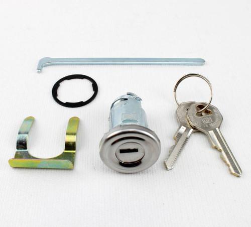 55 56 57 58 Chevy 150 210 Bel Air Impala Original Ribbed Face Trunk Lock GM Keys