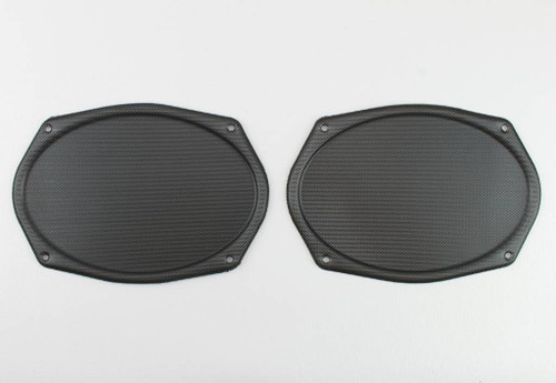 Vintage BLACK Metal Mesh Speaker Grill Cover Package Tray 6X9 Lowrider PAIR