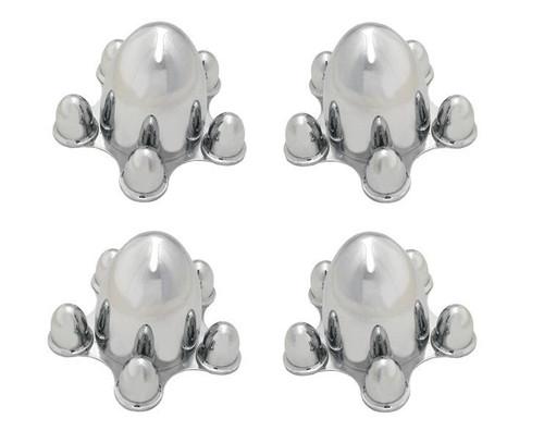 Chrome Spider Bullet Center Wheel Hub Caps 5 lug on 4-3/4 CHEVY BOLT PATTERN Set of 4