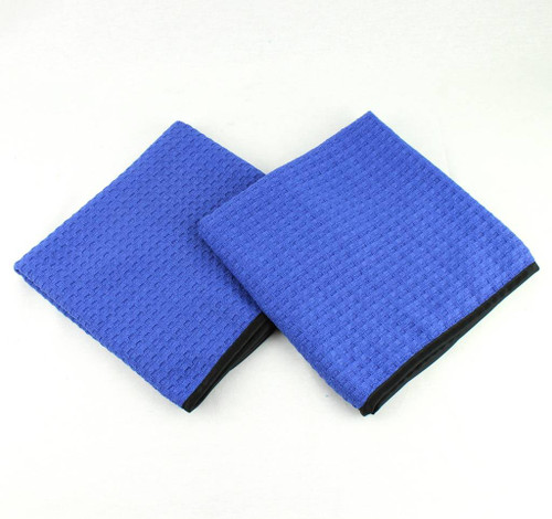 """2- Waffle Weave Microfiber Auto Car Wash Detail Drying Towels Large 40"""" x 20"""""""