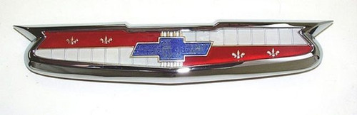 55 1955 CHEVY FRONT HOOD CHROME EMBLEM ASSEMBLY