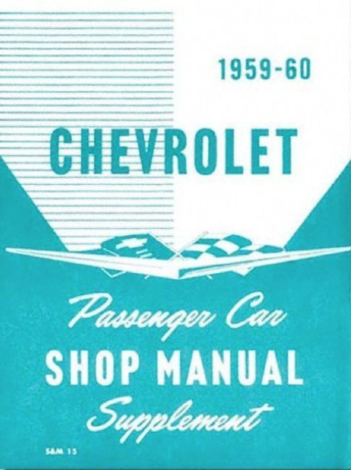 59 60 CHEVY IMPALA SUPPLEMENT SHOP MANUAL BOOK 1959 1960