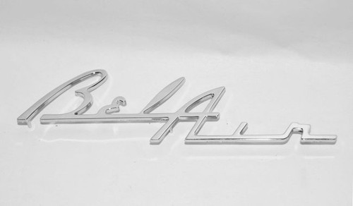 55 56 CHEVY BEL AIR CHROME DASH TRIM SPEAKER BEZEL SCREEN EMBLEM NEW
