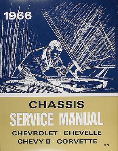 66 Chevy Chevelle Impala Nova Corvette Chassis Service Shop Manual 1966