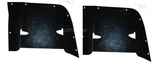 59 1959 CHEVY INNER FENDER CONTROL ARM DUST SHIELDS
