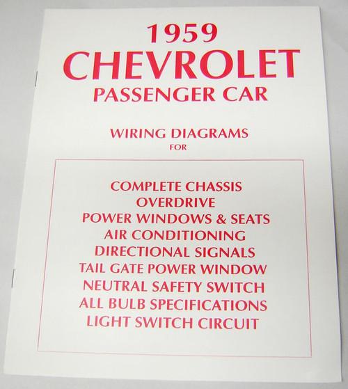 59 Chevy Impala Electrical Wiring Diagram Manual