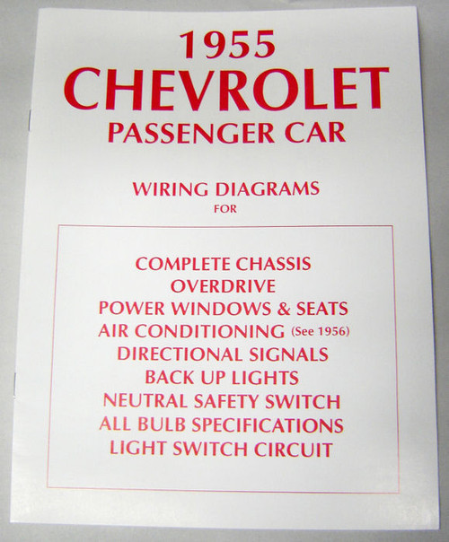 55 1955 CHEVY ELECTRICAL WIRING DIAGRAM MANUAL