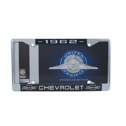 62 1962 CHEVY CHEVROLET CAR & TRUCK CHROME LICENSE PLATE FRAME