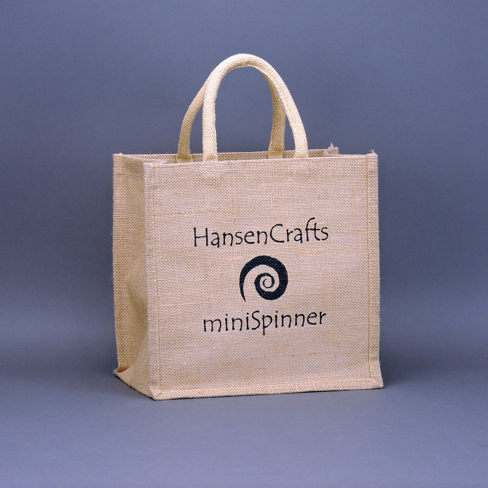 A cute little carry bag, perfect for your HansenCrafts miniSpinner!