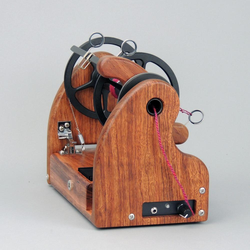 Classic miniSpinner - Bubinga w/ HansenCrafts Standard flyer - front view