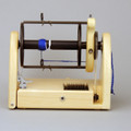 Classic miniSpinner w/ HansenCrafts Standard flyer - Maple - side view