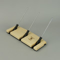 Maple Lazy Kate - 45 degree angle for tensioned plying