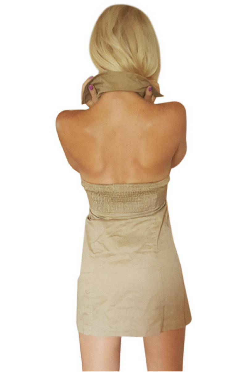 50 Best Back To Front Before After Remodelling Projects: 100% Cotton Halter Top Dress With Button Front And Stretch