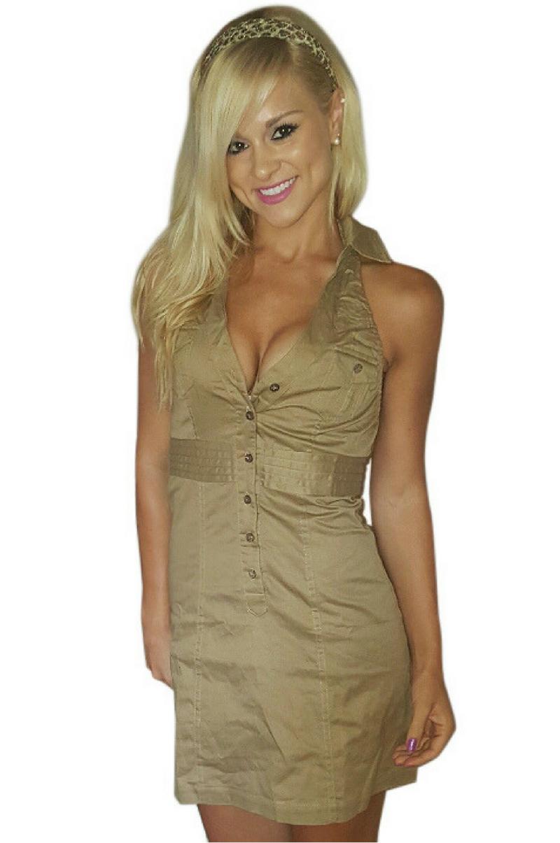 Camel Halter Dress