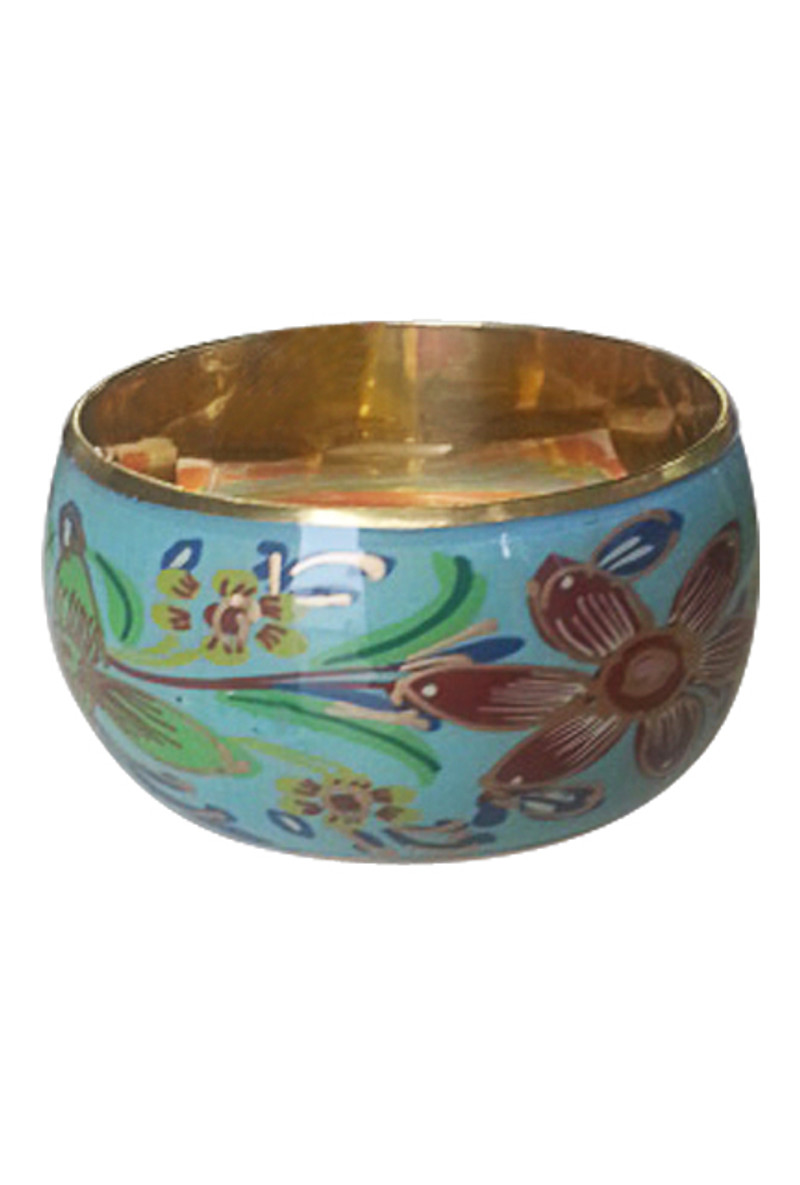 BRACELETS. High-End Mint Teal Bangle with Gold Interior! Made in India.