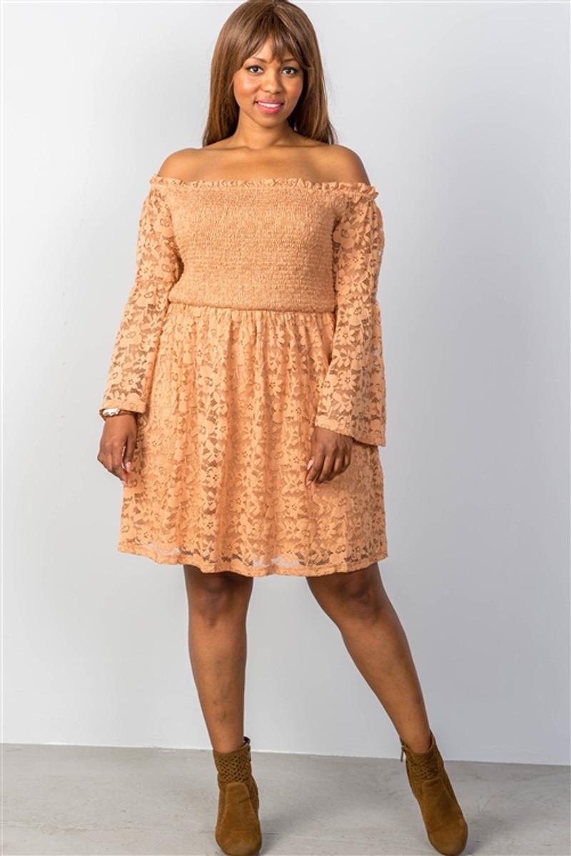 Boho Cooper Floral Lace Off The Shoulder Plus Size Dress 25 1