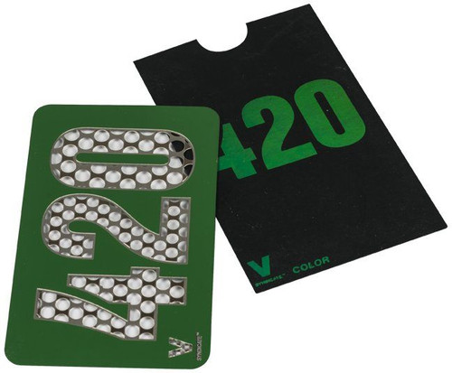 Color 420 Metal Custom Herb Grinder Credit Card
