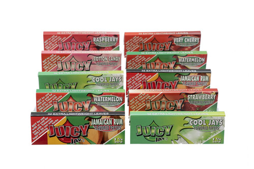 Juicy Jay's 1 1/4 Size Variety 10 Pack (320 Leaves)