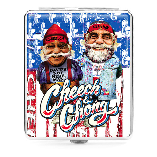 Cheech and Chong Deluxe Cigarette case 100mm 2 inch U S A