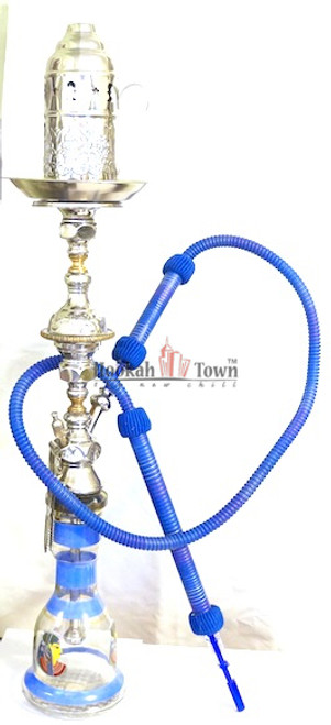 Authentic Handmade Deluxe Egyptian Hookah-Bar Hookah : 015 (Blue)