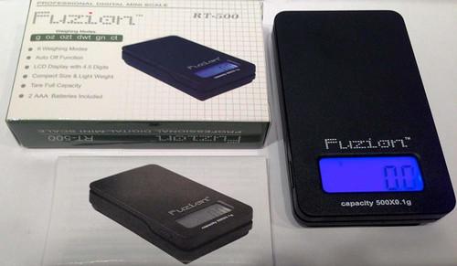 10ct Fuzion Digital Mini 500g x 0.1g Pocket Scale RT-500