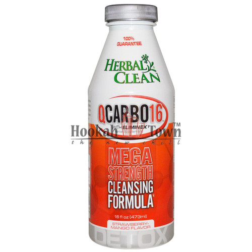 HERBAL CLEAN: QCARBO16: MEGA STRENGTH: STRAWBERRY MANGO FLAVOR 16 OZ