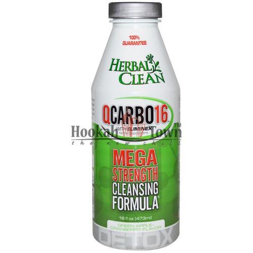 HERBAL CLEAN: QCARBO16: MEGA STRENGTH: GREEN APPLE-CRANBERRY FLAVOR 16 OZ