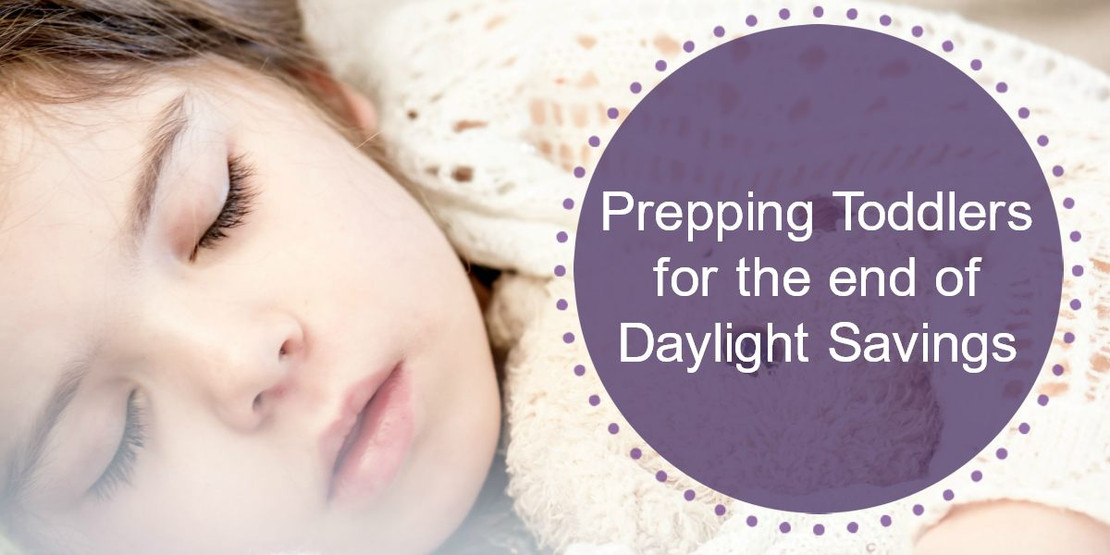 Prepping Toddlers for the end of Daylight Savings
