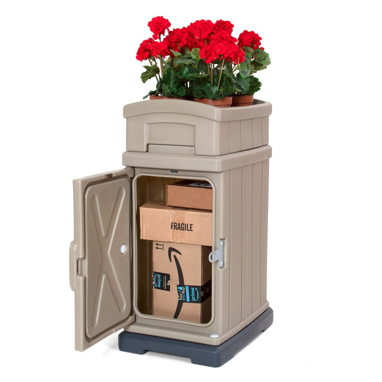 hide away parcel box with planter