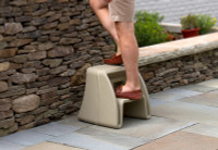Simplay3 Handy Home Step Stool heavy duty plastic step stool has extra wide grooved steps providing stability and traction for indoor and outdoor use.