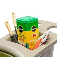 Simplay3 Easy Haul Wheelbarrow has easy grip handles and a garden tool storage tray.