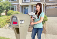 Simplay3 Silhouette mailbox with front and back side access makes getting the mail or newspaper safer on a busy street.
