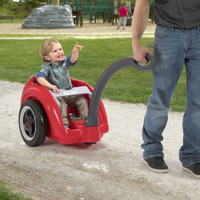 Large wheels allow the Trail Master Wagon to traverse all manner of terrain
