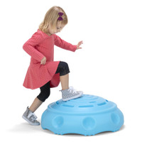 Simplay3 Rock Around Wobble Disk toy for kids can be flipped over for climbing