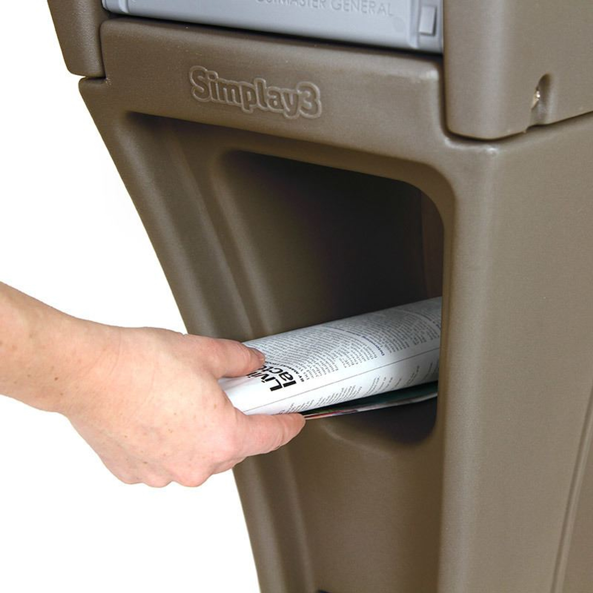 heavy duty mailbox. Simplay3 Silhouette Heavy Duty Mailbox With Convenient Front And Rear Access Newspaper Holder.