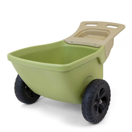 Simplay3 Easy Haul Wheelbarrow two wheeled heavy duty plastic wheelbarrow is a lightweight and easy to move.