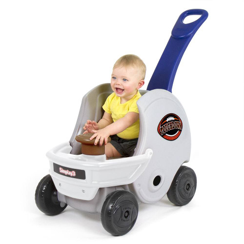 Simplay3 Game Day Push About Helmet is a toddler push car that has durable wheels to use on many surfaces.