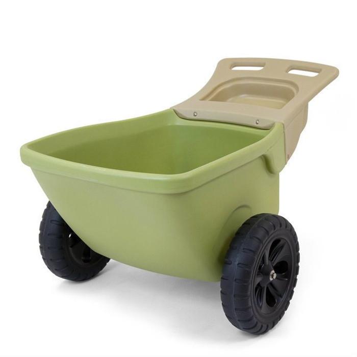 Simplay3 Easy Haul Wheelbarrow two wheeled heavy duty plastic wheelbarrow is a lightweight and easy to move.
