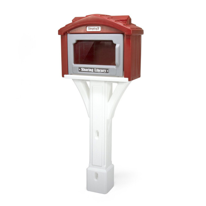 Simplay3 Sharing Library includes a heavy duty plastic white post and clear plexi-glass hinged door with magnet.