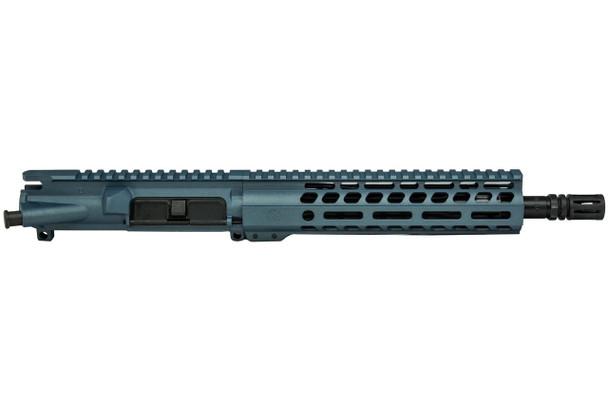 """Ghost Firearms 10.5"""" 5.56 AR 15 Upper Receiver in Blue Titanium Cerakote"""